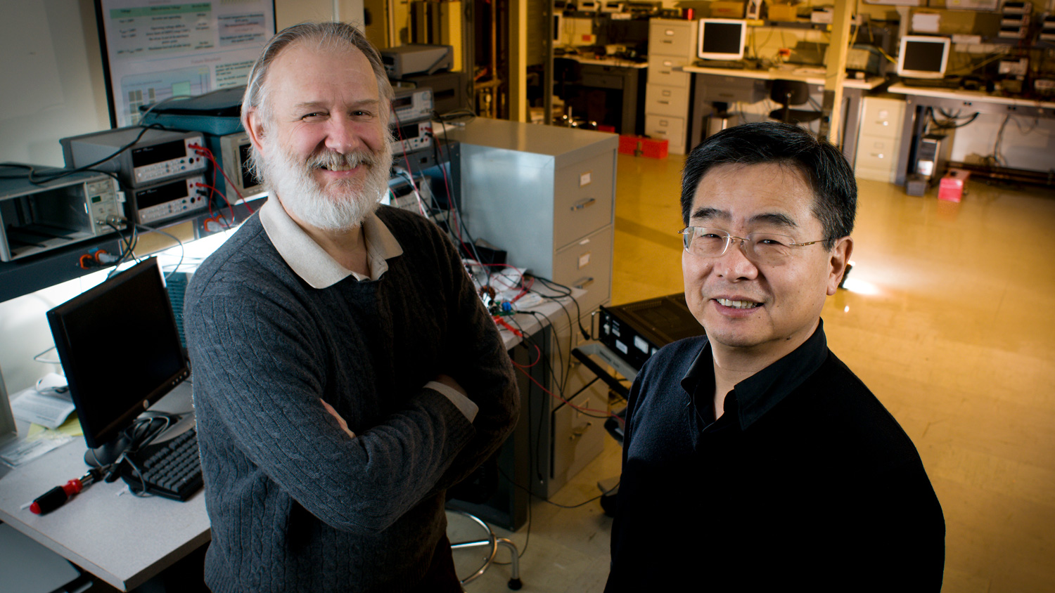 Virginia Tech faculty members Dushan Boroyevich and Fred Lee