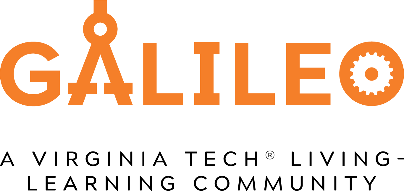 Galileo, A Virginia Tech Living Learning Community Logo