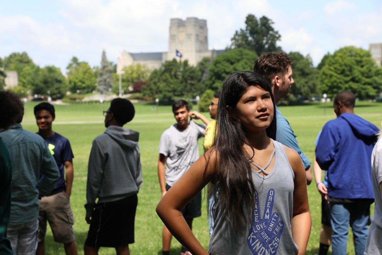 Pathways Scholars engage in team building with Venture Out on the Drillfield at Virginia Tech