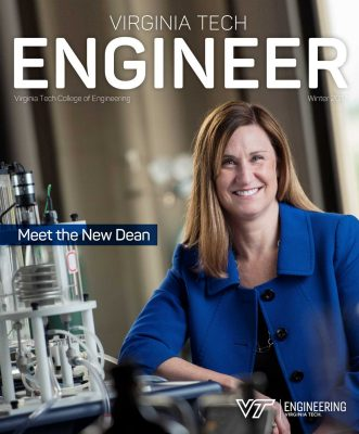 Winter 2017 cover image of Julia Ross, dean of the College of Engineering