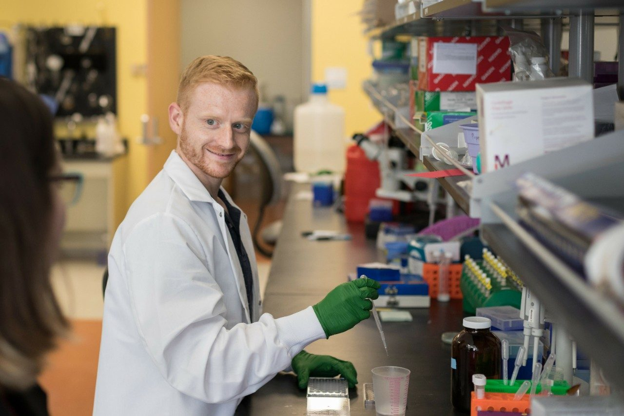 Chase Cornelison is a post-doctoral researcher at Virginia Tech and lead author of an article published in Scientific Reports that details a solution to stopping the spread of glioblastoma in the brain.