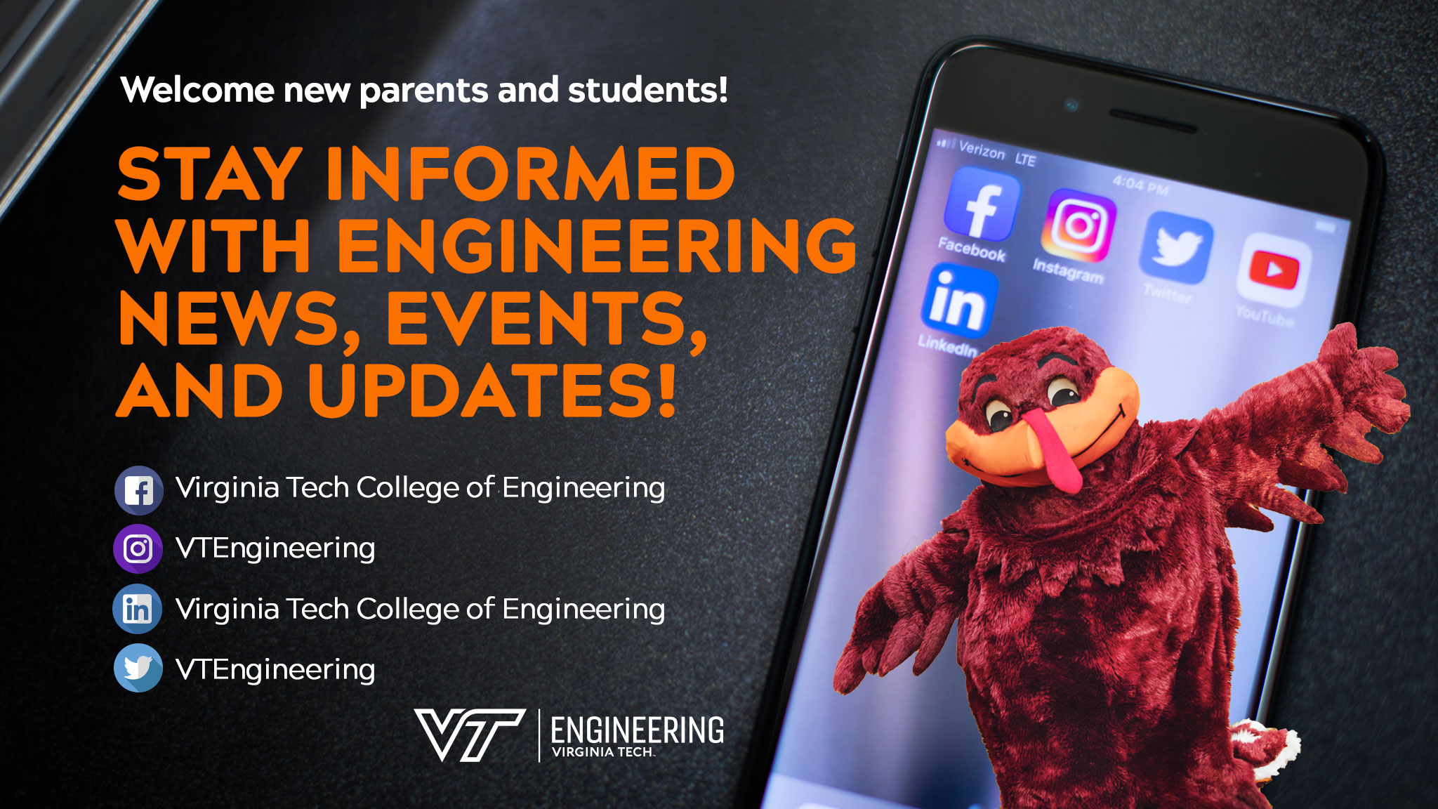 Stay informed with engineering news, events, and updates! Follow us on social media.