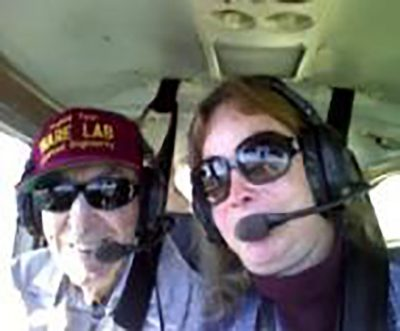 Joe and wife in plane